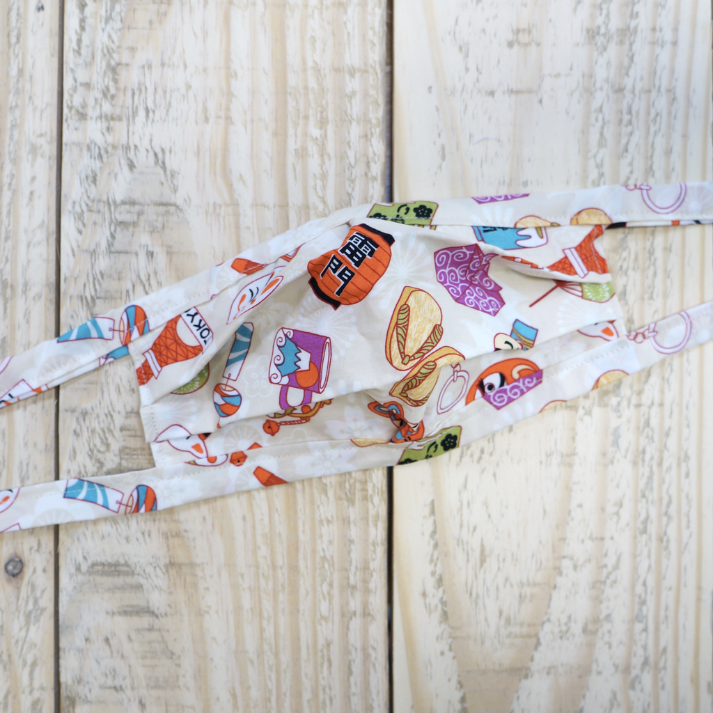Elizabeth Kent HANDMADE FACE MASK: CUTE  & PLAYFUL JAPANESE FABRIC