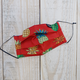 Pouch Em Hawaii HANDMADE FACE MASK: PINEAPPLES RED