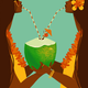 Punky Aloha COCO TWINS, 11X14 MATTED PRINT