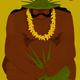 Punky Aloha THE WEAVER, 8X10 MATTED PRINT