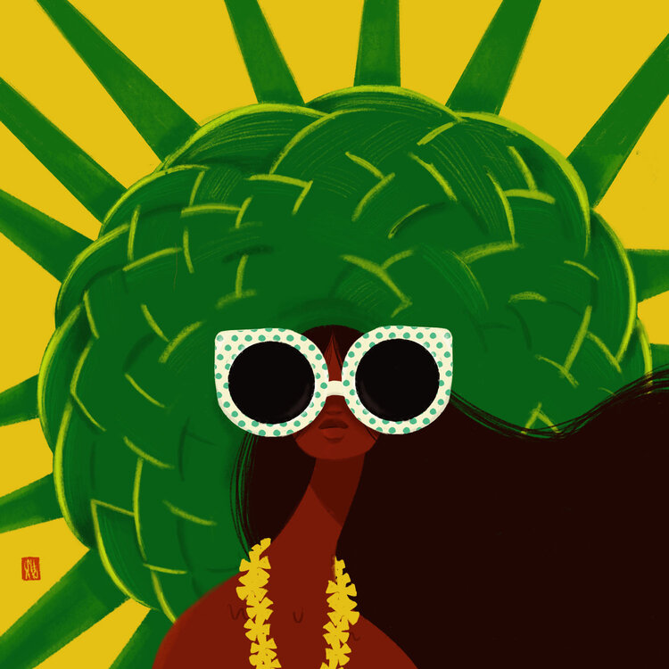 Punky Aloha MADONNA LAUNUI, 11X14 MATTED PRINT