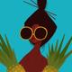 Punky Aloha HOWZ DEM PINEAPPLES, 16X20 MATTED PRINT
