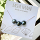 Misha Lam NECKLACE: TRIPLE TAHITIAN PEARL, GOLD FILL