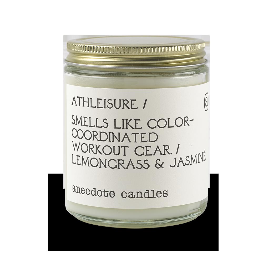 Anecdote Candles Athleisure (Lemongrass & Jasmine) Glass Jar Candle (7.8oz Glass Jar)
