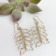 EARRINGS: HELICONIA (GOLD FILL)