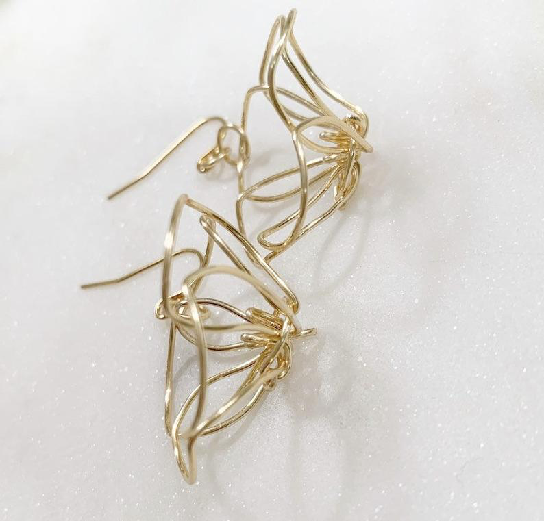 EARRINGS: PUAKENIKENI (GOLD FILL)