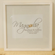Magnolia Designs 16X16 RUSTIC WOODEN FRAME, DISTRESSED WHITE