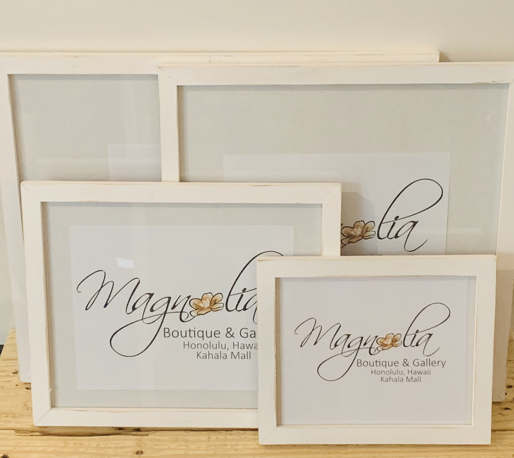 Magnolia Designs 11X14 RUSTIC WOODEN FRAME, DISTRESSED WHITE