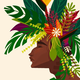 Punky Aloha FLORAL MOHAWK, 16X20 LIMITED EDITION MATTED PRINT