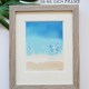 """Janet Meinke-Lau """"A SMOOTH LAUNCH"""", 11""""X14"""" FRAMED ORIGINAL WATERCOLOR PAINTING"""