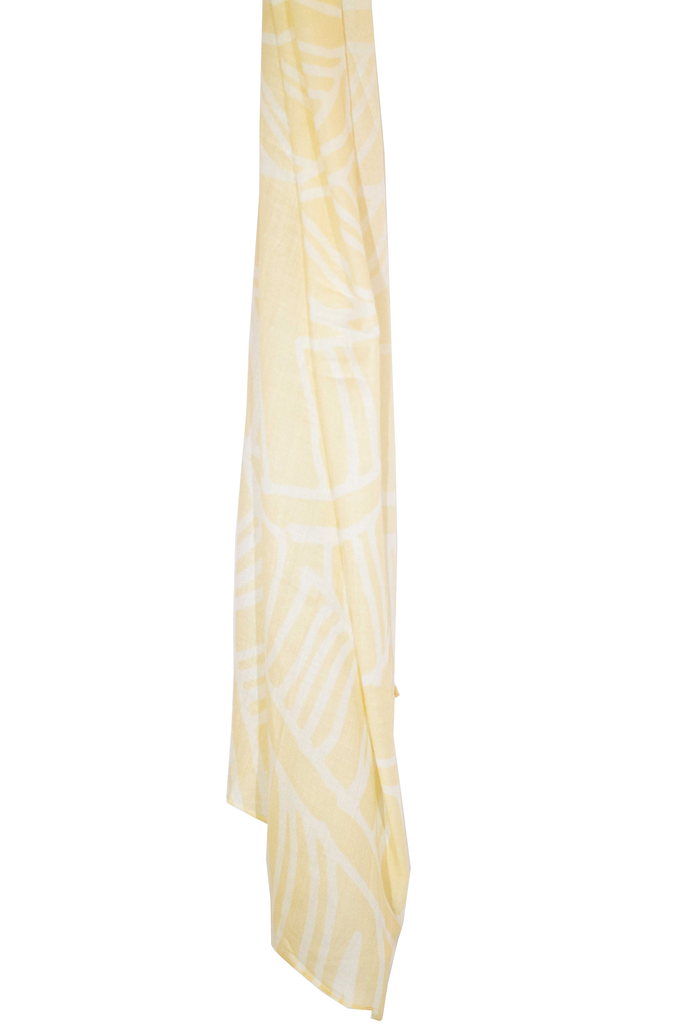 Pineapple Palaka MAIA WHITE/PINEAPPLE YELLOW SCARF