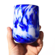 Brad Smith Studios HANDBLOWN GLASS WINE GLASS: COBALT BLUE