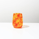 Brad Smith Studios HANDBLOWN GLASS WINE GLASS: ORANGE & YELLOW