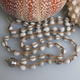 """MiNei Designs Necklace:34"""" Job's Tears with Tahitian Pearl"""