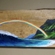 """Christian Bendo WHEN BEAUTY COLLIDES (MONKEYPOD), HANDCARVED WOOD WALL PLAQUE - RESIN, HANDPAINTED (APPROX. 23""""X12"""")"""