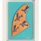 "Eduardo Bolioli MALOLO FIN, ORIGINAL PAINTING ON HANDCARVED SURF FIN WITH HANDMADE FRAME, APPROX. 8"" X 11"""