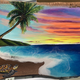 """Christian Bendo LOOKING AHEAD (MACADAMIA NUT), HANDCARVED WOOD WALL PLAQUE - RESIN, HANDPAINTED (APPROX. 14.5""""X11"""")"""