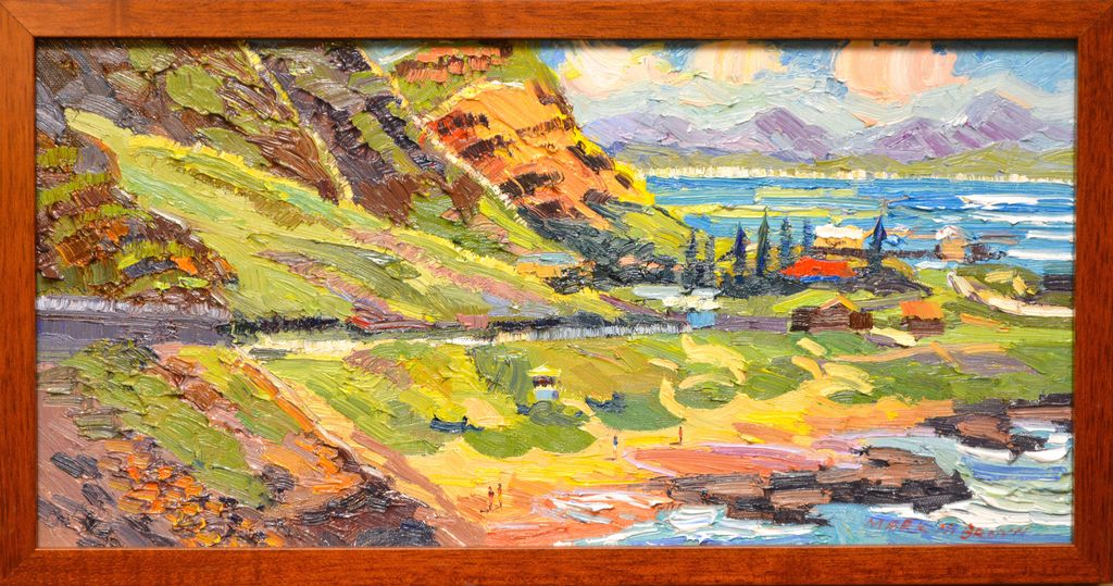 "Mark Brown ORIGINAL OIL PAINTING: 10X20 ""MAKAPU'U"""