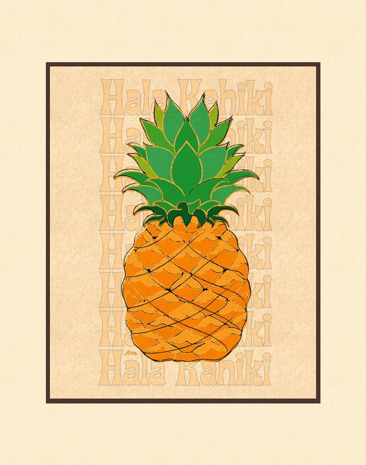 Aloha Posters HALA KAHIKI 11X14 MATTED PRINT