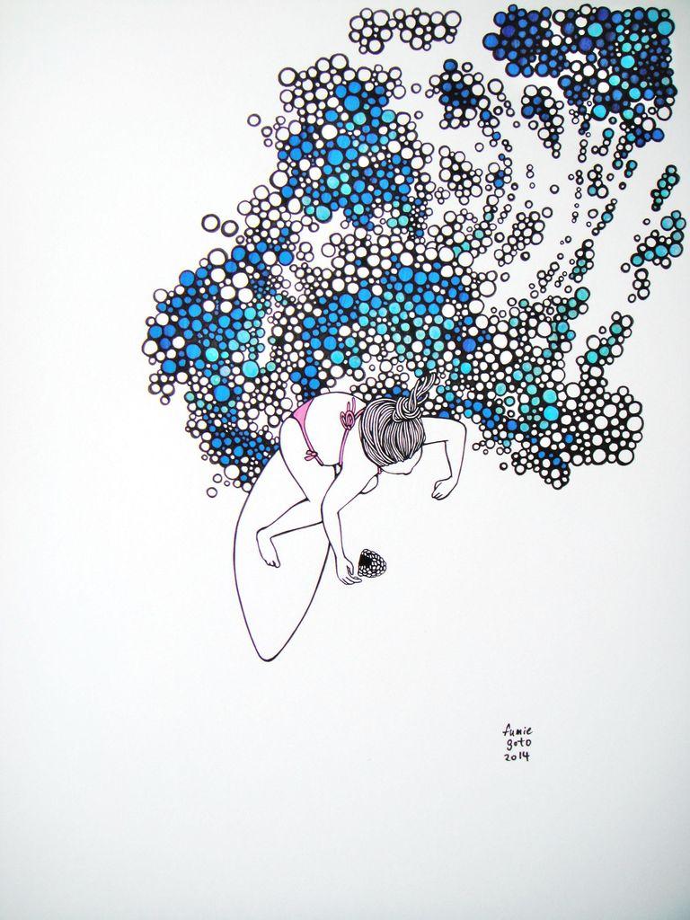 """Kris Goto Splash, 11""""x14"""" Matted Art Print"""