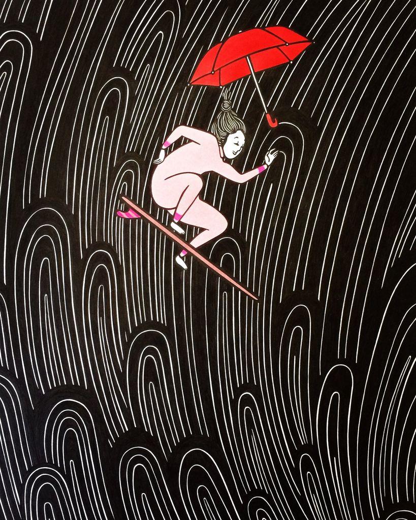 "Kris Goto The Fall, 11""x14"" Matted Art Print"