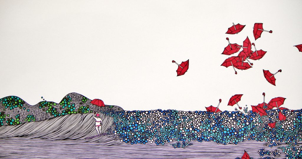 "Kris Goto Solitude, 11""x14"" Matted Art Print"