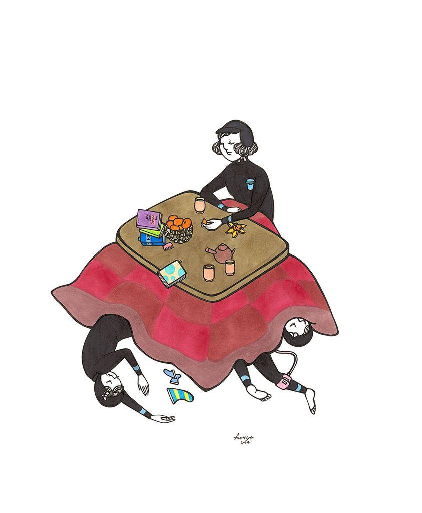 "Kris Goto Kotatsu, 11""x14"" Matted Art Print"