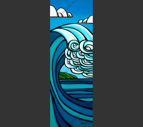 """Heather Brown ISLAND BARREL, 15""""X44"""" GALLERY WRAP GICLEE ON CANVAS, LIMITED EDITION #81/250, SO16125"""