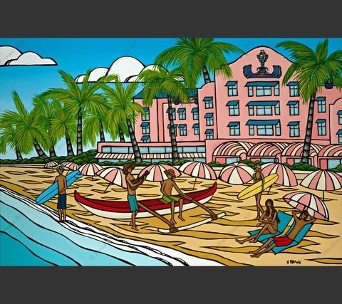 "Heather Brown ROYAL HAWAIIAN, 20""X30"" GALLERY WRAP GICLEE ON CANVAS, LIMITED EDITION #29/250, SO11799"