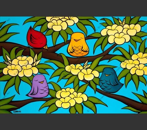 "Heather Brown BIRD OHANA, 16""X24"" GALLERY WRAP GICLEE ON CANVAS, LIMITED EDITION #132/250, SO17404"