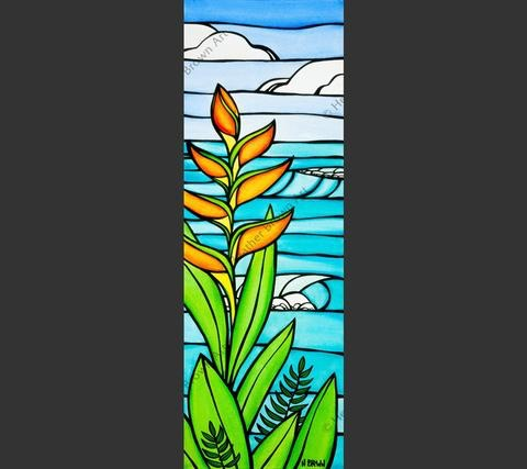 """Heather Brown HELICONIA DAYDREAM, 10""""X30"""" GALLERY WRAP GICLEE ON CANVAS, LIMITED EDITION #51/250, SO13474"""