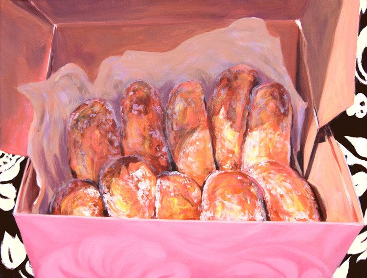 "Carol Collette Hot Malasadas, 11""x14"" Matted Print"
