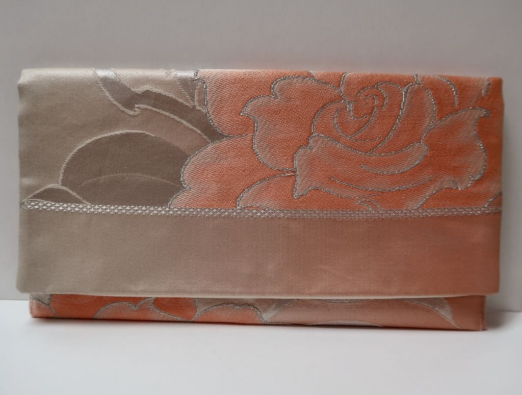 Leina Aonuma PINK/PEACH-STRAIGHT FLAP: OBI CLUTCH