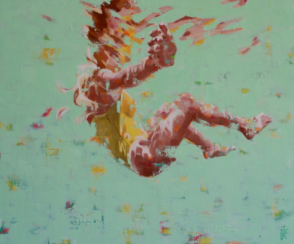 "Camille Izumi Art TALIA-ORIGINAL OIL PAINTING ON CANVAS, 30""X36"""