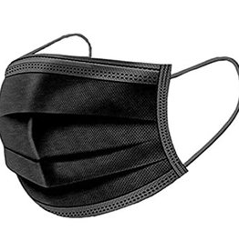 Masque de procédure noir (boîte de 50)