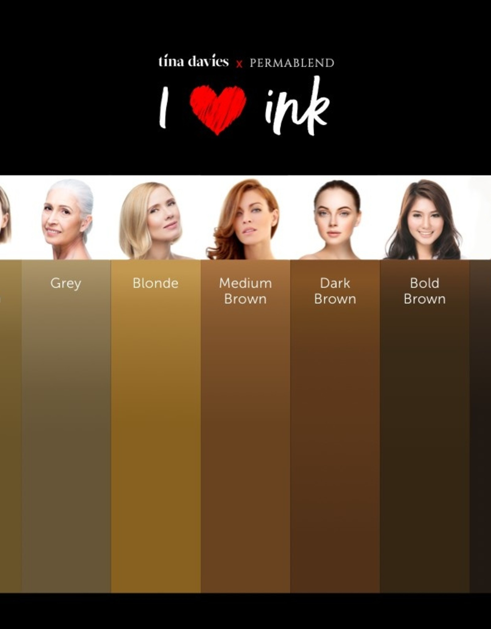 I ❤ INK Eyebrow Pigment Collection