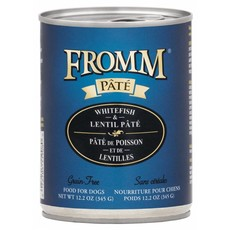 Fromm FROMMD GF WHITEFISH & LENTIL PATE 12.2oz