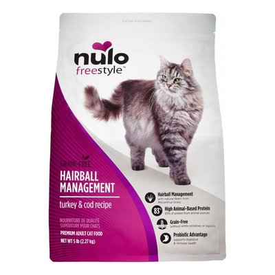 Nulo Nulo Cat Hairball Management Turkey & Cod 5#