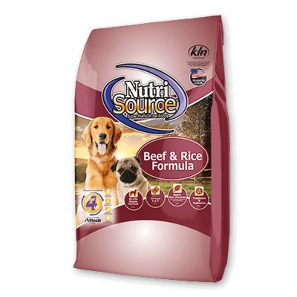 Nutrisource NSD BEEF AND RICE 5#