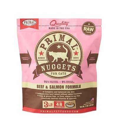 Primal CAT BEEF/SALMON 3LB NUGGETS