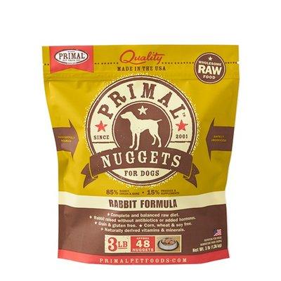 Primal Primal DOG RABBIT 3LB NUGGETS