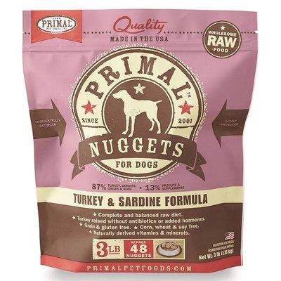 Primal Primal DOG TURKEY/SARDINE 3LB NUGGETS