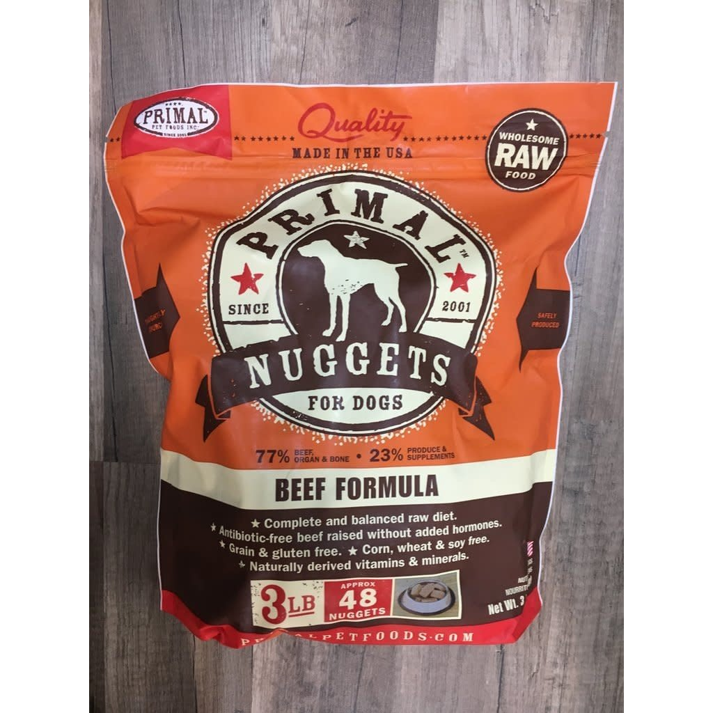 Primal Primal Dog Beef Nuggets 3#