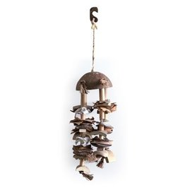 Living World Nature's Treasure Coco Shell Chime - Sm & Md Hookbills