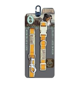Arista Collar & Leash Set -Large - Orange