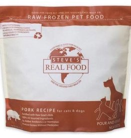 Steve's Real Food Frozen Pork Nuggets Dog & Cat 5LB