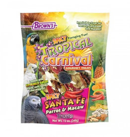 FM BROWNS TROPICAL CARNIVAL SPICY SANTA FE PARROT TREAT 12oz