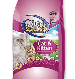 NUTRISOURCE NutriSourCAT & Kitten Chicken & Rice 16 lb