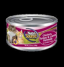 NUTRISOURCE NutriSourCAT & KITTEN Ckn/Tky/Lamb             5oz