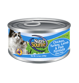 NUTRISOURCE NutriSourCAT & KITTEN Ckn/Tky/Lamb/Fish 5oz